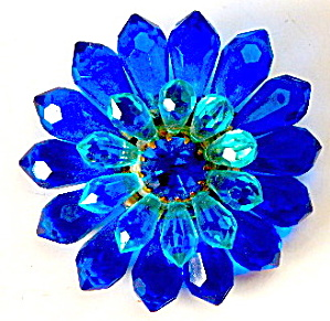 Vintage Blue Flower Pin Western Germany (Image1)