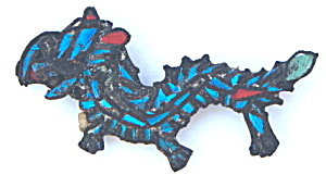Chinese Kingfisher Feather Dragon Pin