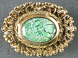 Filigree Green Pin