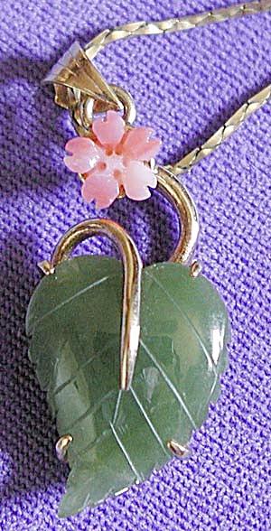 Vintage Jade & Coral Necklace (Image1)