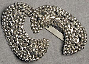 Antique Crescent Steel Bead Shoe Buckles (Image1)