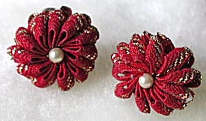 Vintage Rick Rack Earrings Pair (Image1)