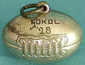 Vintage 1928 Football Charm (Image1)
