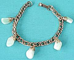 Vintage 1950's Polished Stone Bracelet (Image1)
