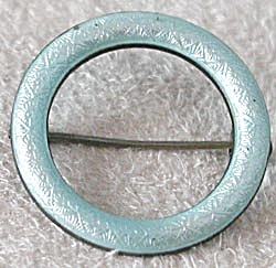 Aqua Enamel Sterling Circle Pin (Image1)