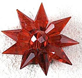 Vintage 3D Crystal Star Dress Clip (Image1)