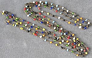 Vintage Multicolor Tiny Glass Beaded Necklace (Image1)