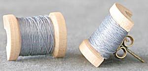 Spool of Thread Earrings (Image1)