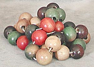 Vintage Wooden Painted Beads
