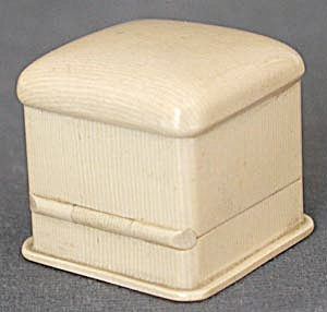 Vintage French Ivory Celluloid Ring Box