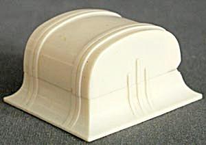 Vintage Cream Celluloid Ring Box Turquoise Velvet (Image1)