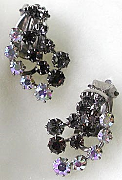 Vintage Austrian Crystal Rhinestone Earrings (Image1)