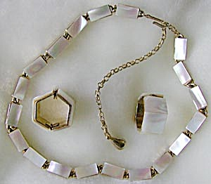 Vintage Mother of Pearl Demi Parure (Image1)