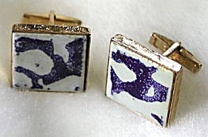 Blue and White Tile Cuff Links (Image1)