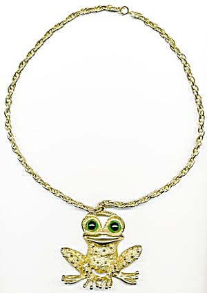 Vintage Frog Necklace (Image1)