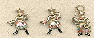 Vintage Cowgirls and Cowboy Scatter Pins (Image1)