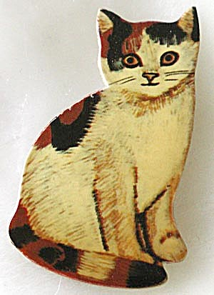 Calico Cat Pin (Image1)