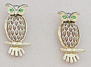 Vintage Pair of Owl Pins (Image1)