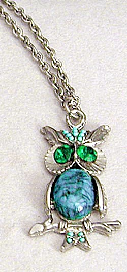 Vintage Owl Necklace (Image1)