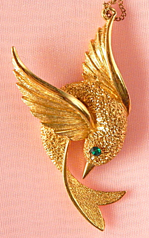 Vintage Humming Bird Necklace (Image1)