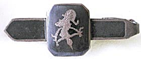 Vintage Siam Sterling Tie Clip Bar & Cuff Links (Image1)