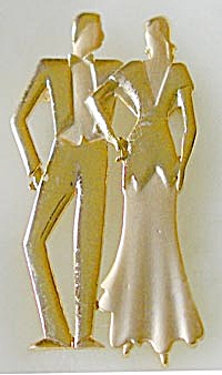 Vintage Man & Woman Pin (Image1)