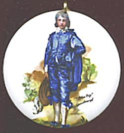 Vintage Ceramic Pendant of Blue Boy (Image1)