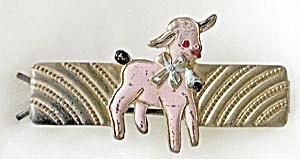Vintage Metal Lamb Barrette (Image1)