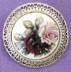 Rose Circle Pin or Pendant (Image1)