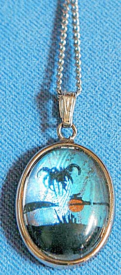 Vintage Butterfly Wing Necklace (Image1)