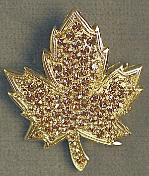 Maple Leaf Pin with Handset Stones (Image1)