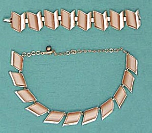 Vintage Coppery Moonglow Charel Demi Parure (Image1)