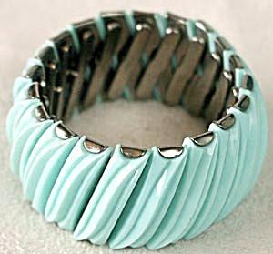 Vintage Aqua Leru Expansion Bracelet (Image1)