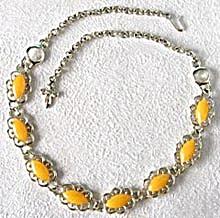 Vintage Vendome Melon Goldtone Choker Necklace (Image1)