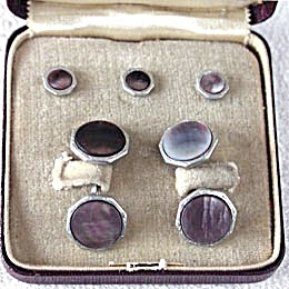 Vintage Heller Cufflinks Button Set Original Box (Image1)
