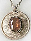 Emmons Amber Glass Stone Necklace (Image1)