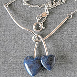 Vintage Sarah Coventry Double Heart Necklace