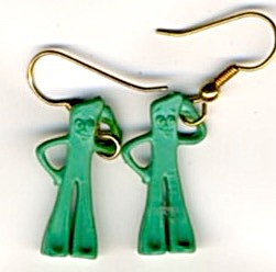 Vintage Gumby Earrings (Image1)