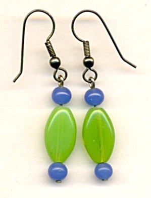 Vintage Czrch Glass Earrings