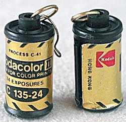 Vintage Mini Kodak Film Canister Earrings (Image1)