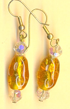Vintage Czrch Glass Earrings (Image1)