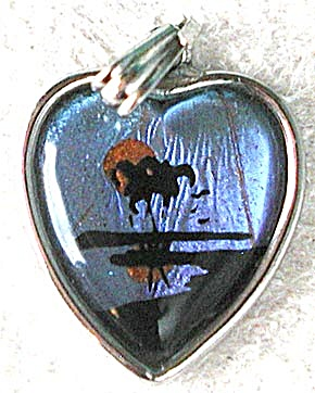 Vintage Tiny Butterfly Wing Pendant (Image1)