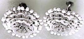 Vintage Sequin & Beaded Flower Screwback Earrings (Image1)