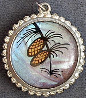 Vintage Butterfly Wing Reversible Necklace/Pendant (Image1)