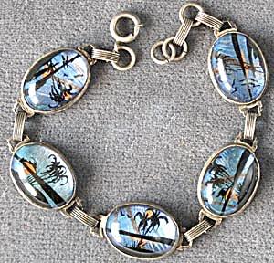 Vintage Hoffman Sterling Silver Butterfly Wing Bracelet (Image1)