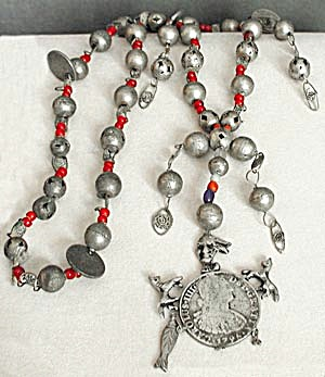 Vintage Handmade Mexican Indian Necklace (Image1)
