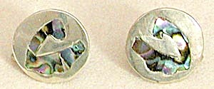 Vintage Sterling and Abalone Earrings (Image1)
