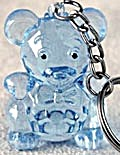 Teddy Bear Crystal Look Key Chain