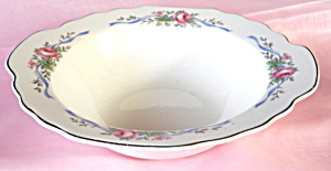 Serving Bowl With Roses & Ribbons
