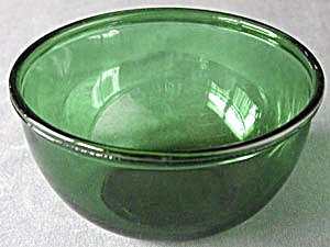 Vintage Fire King Green Glass Mixing Bowl